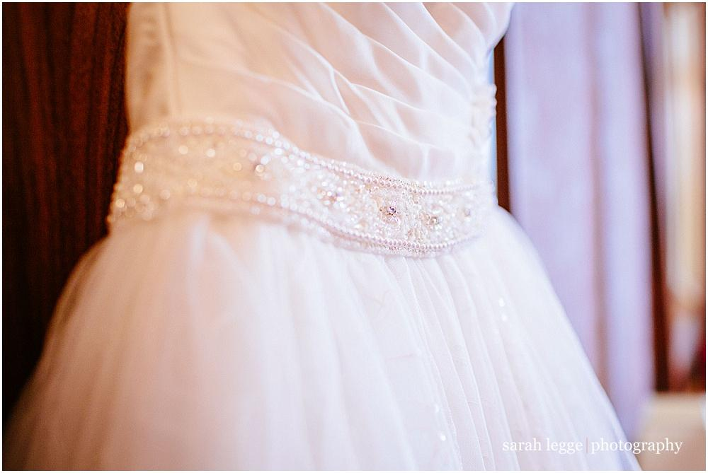 Wedding dress tulle