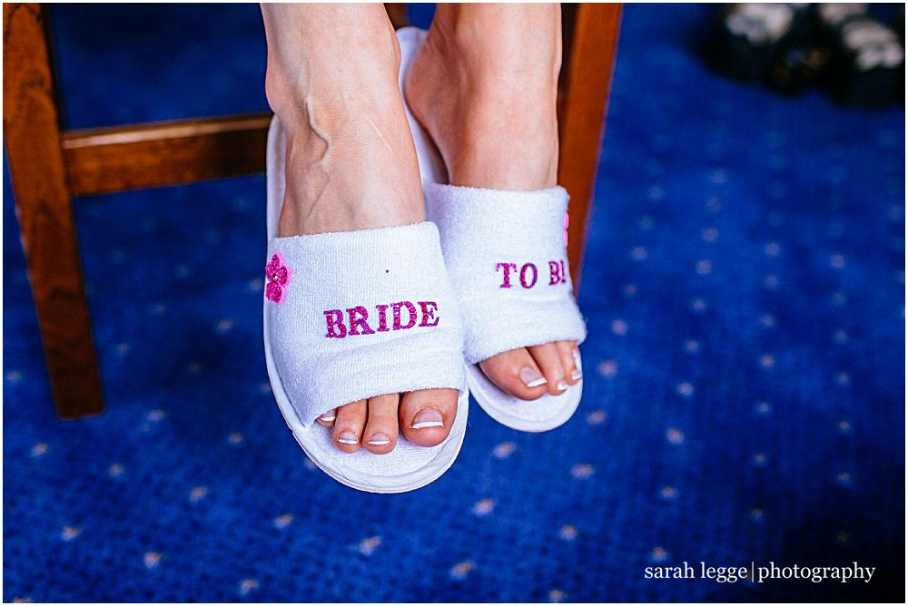 Bride to be slippers