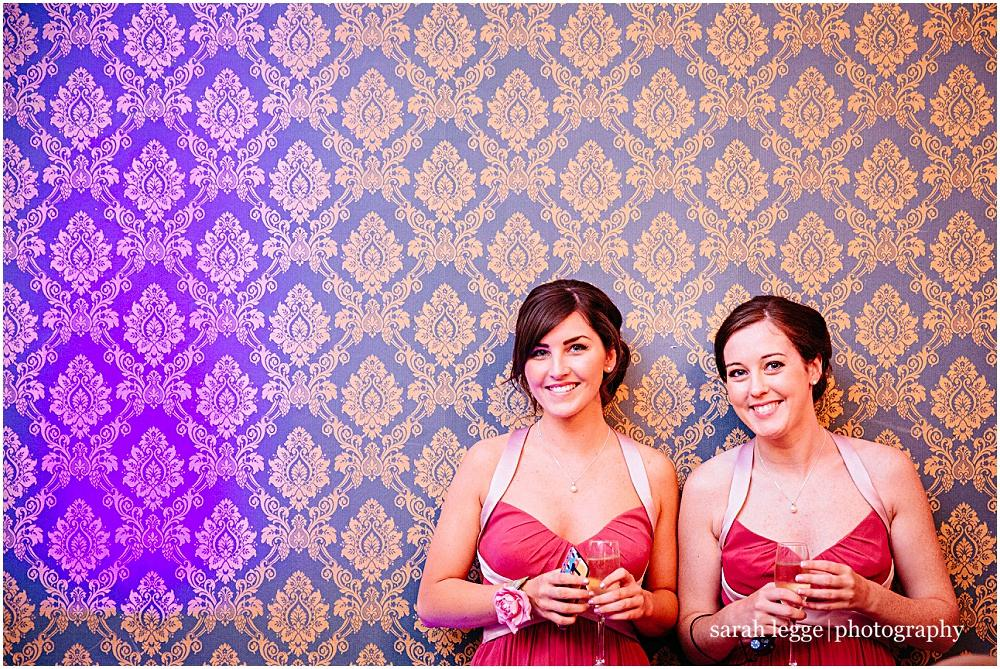 Bridesmaids and wallpaper