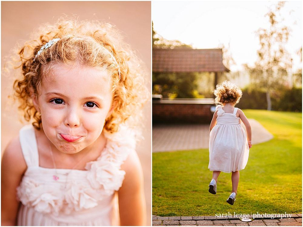 Cute child at wedding
