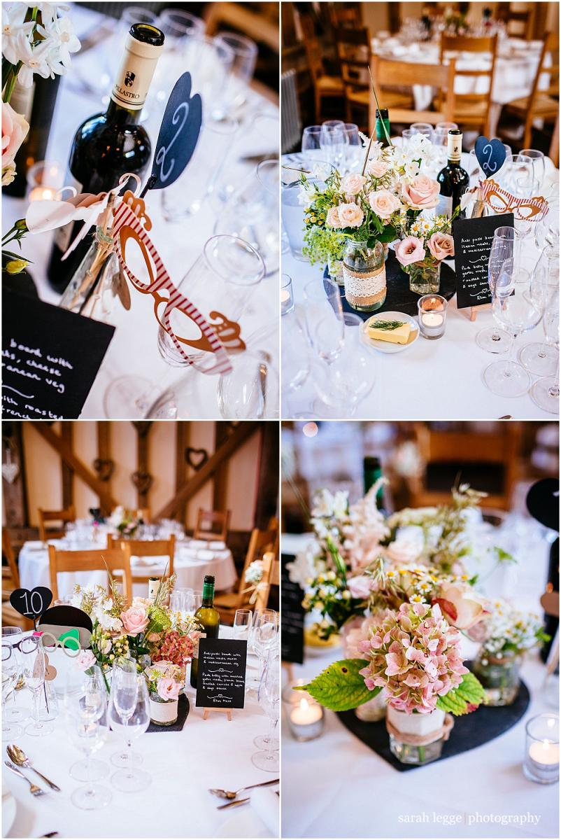 Gate street barn table centrepieces