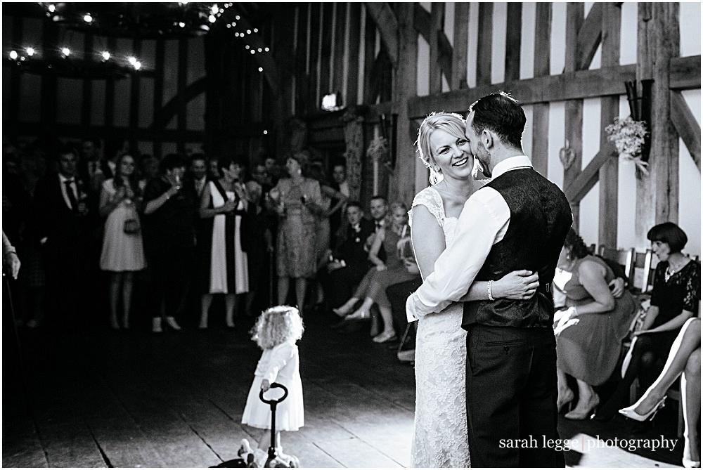First dance and flowergirl