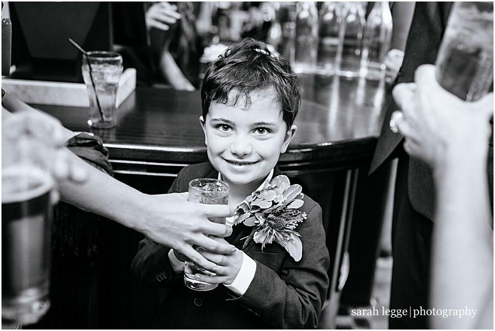 Cute kid in pub