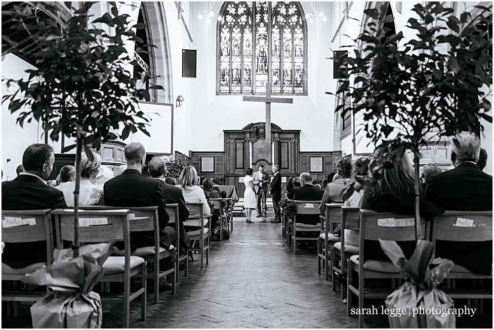 Southfields st martins church wedding with inside trees