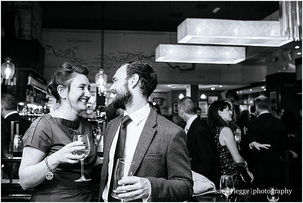 Smart wedding couple