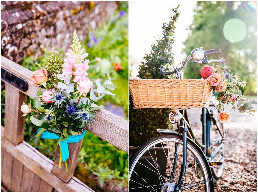 Vintage bike at wedding