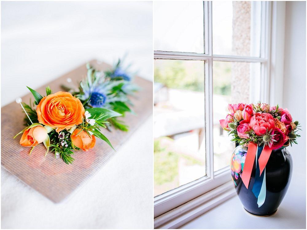 Bright wedding bouquet bonhams farm