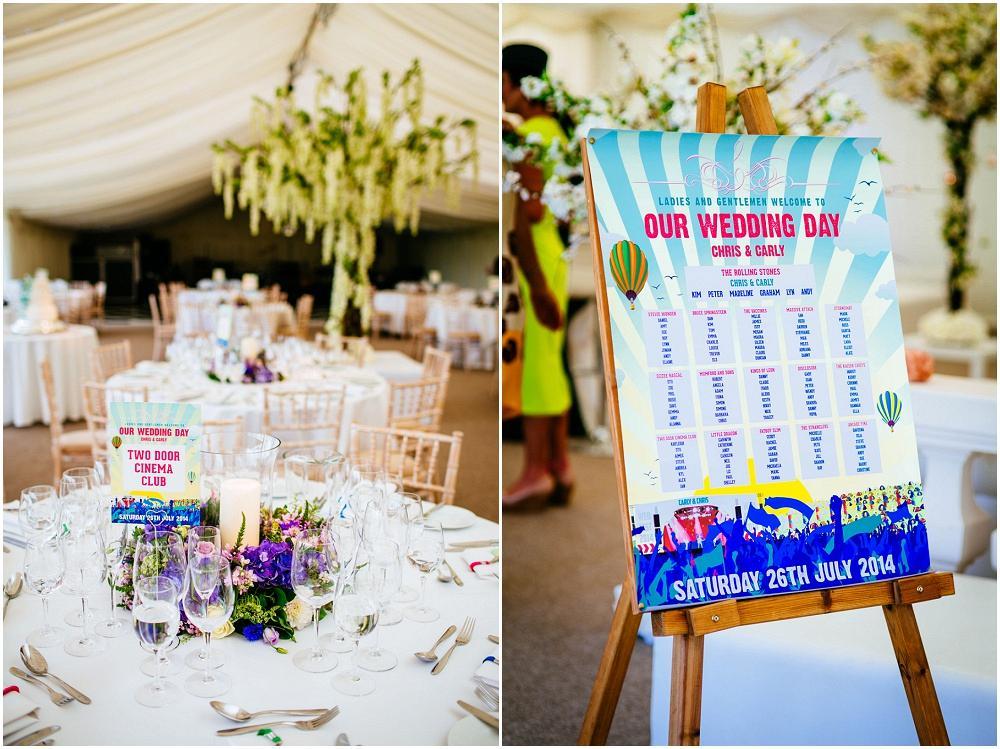 Festival themed micklefield hall wedding