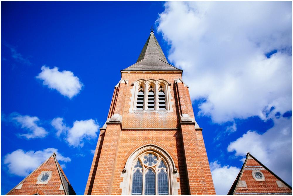 Pretty church and blue sky