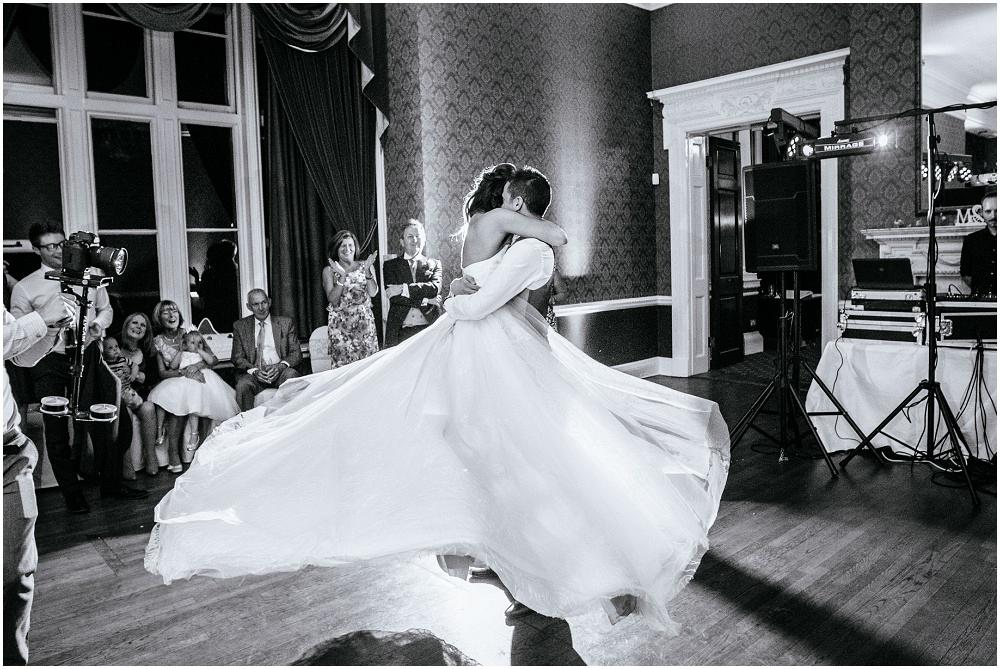 Twirling first dance at easthampstead park