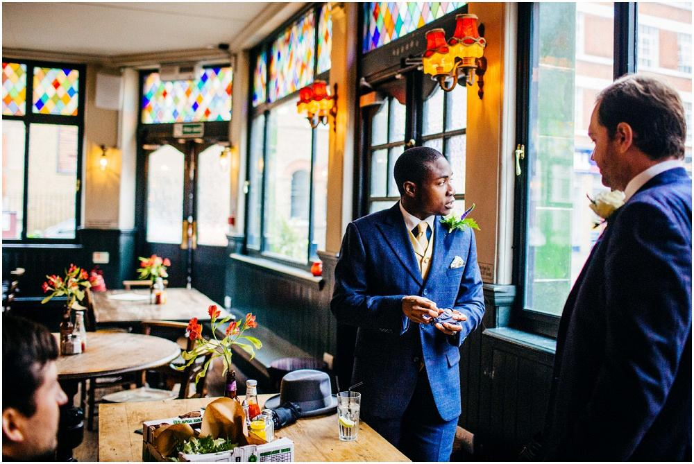 Pensive groom