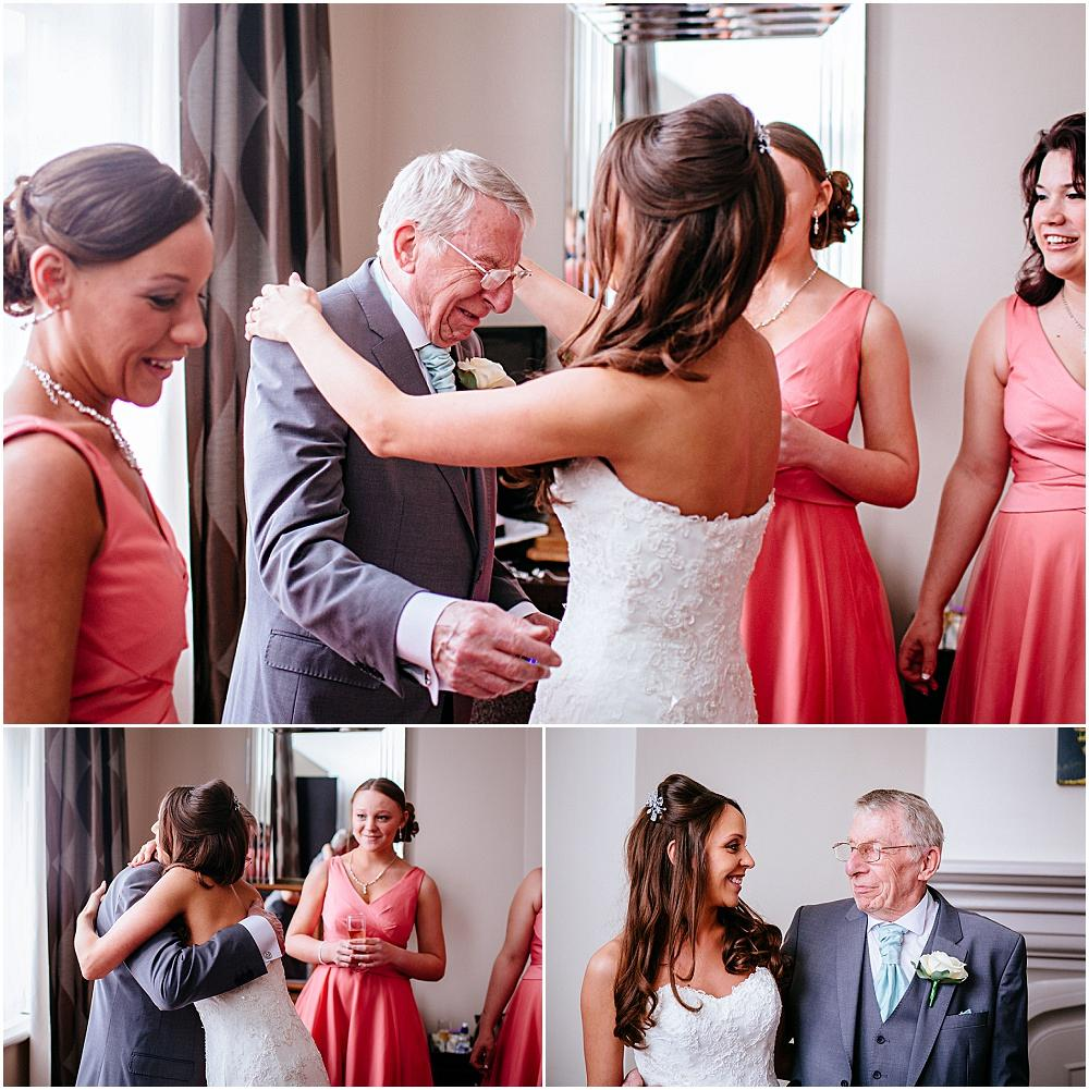 Father seeing bride