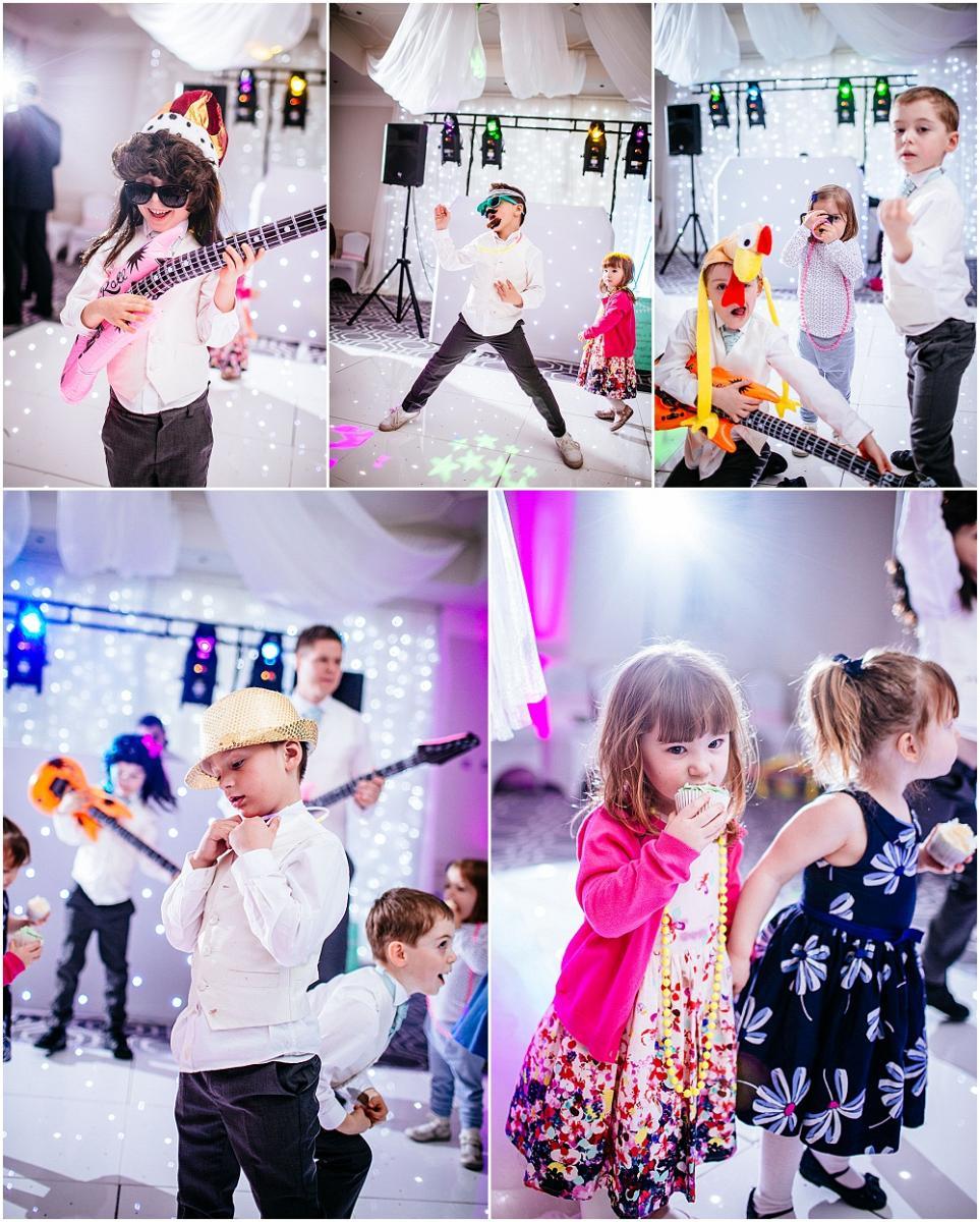 Kids on the dancefloor at wedding