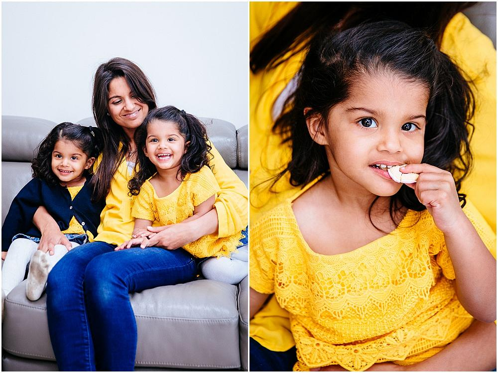 Family photography dressed in yellow