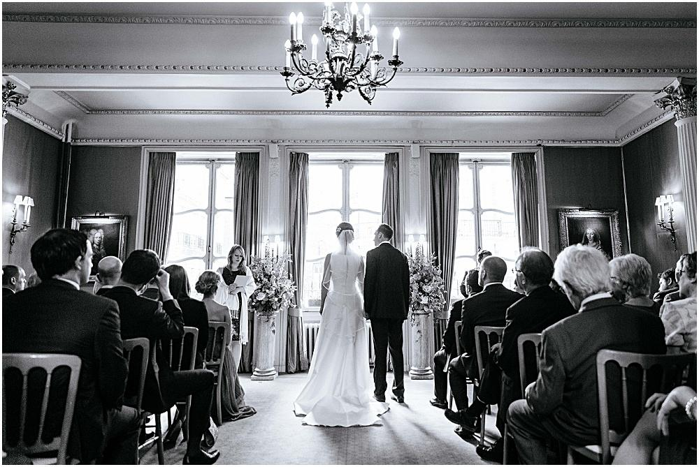 Stunning Savile club wedding ceremony