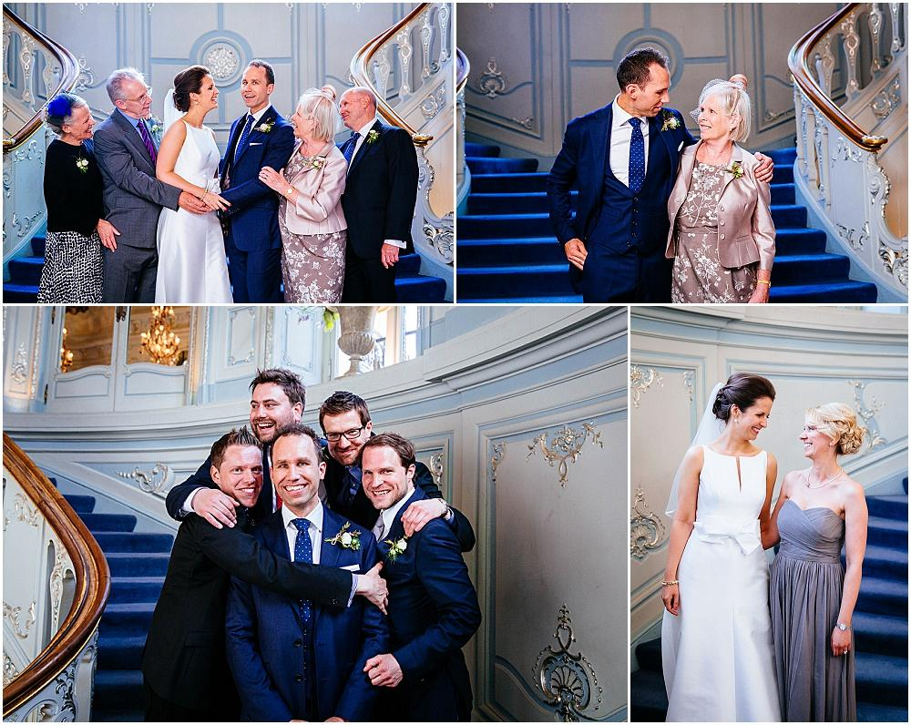 Relaxed group shots at london wedding