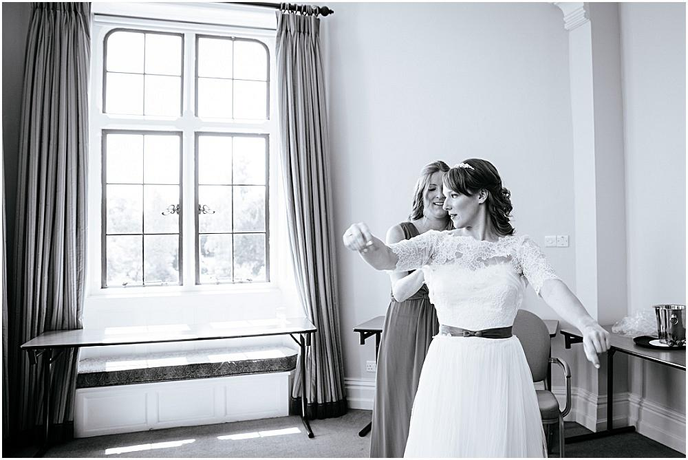 Bride getting ready at the Elvetham