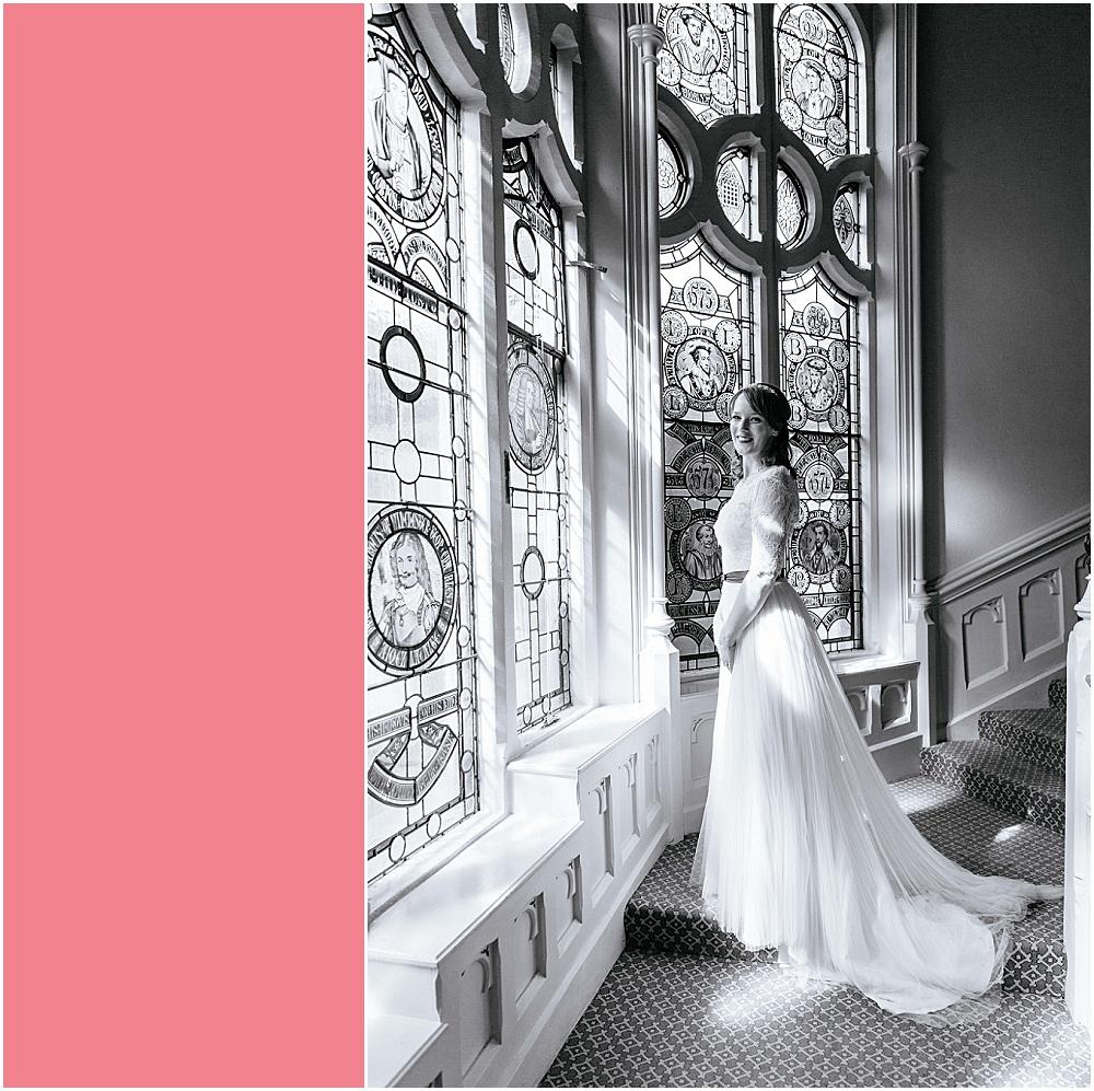 Bride on The Elvetham stairs