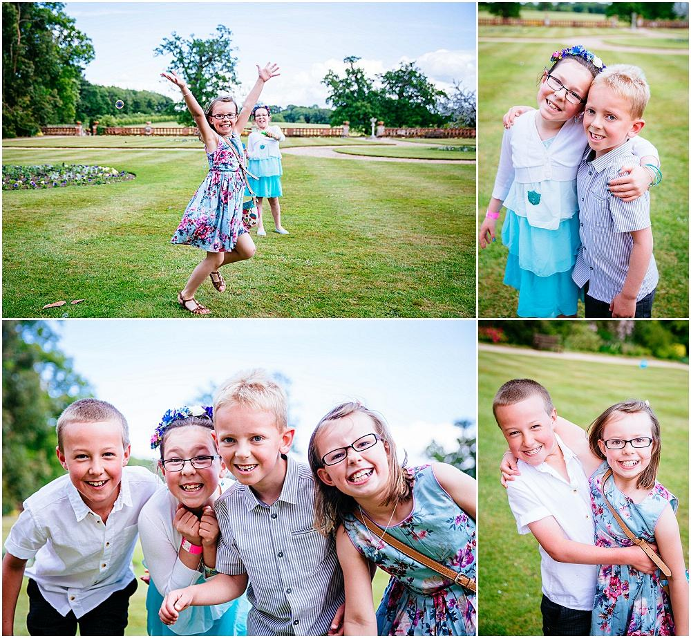 Children having fun at wedding