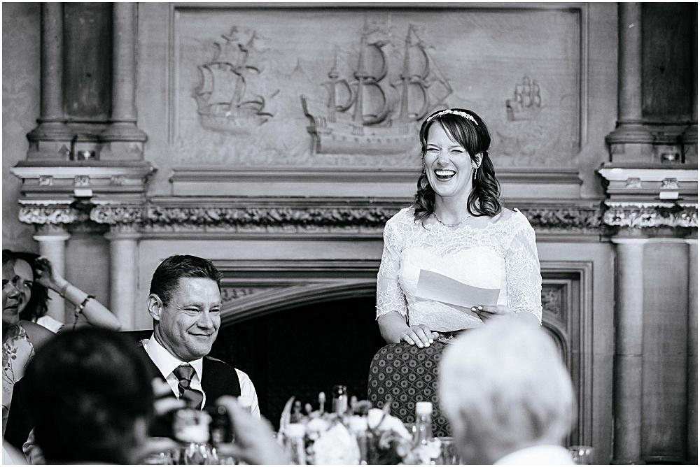Brides wedding speech at the elvetham