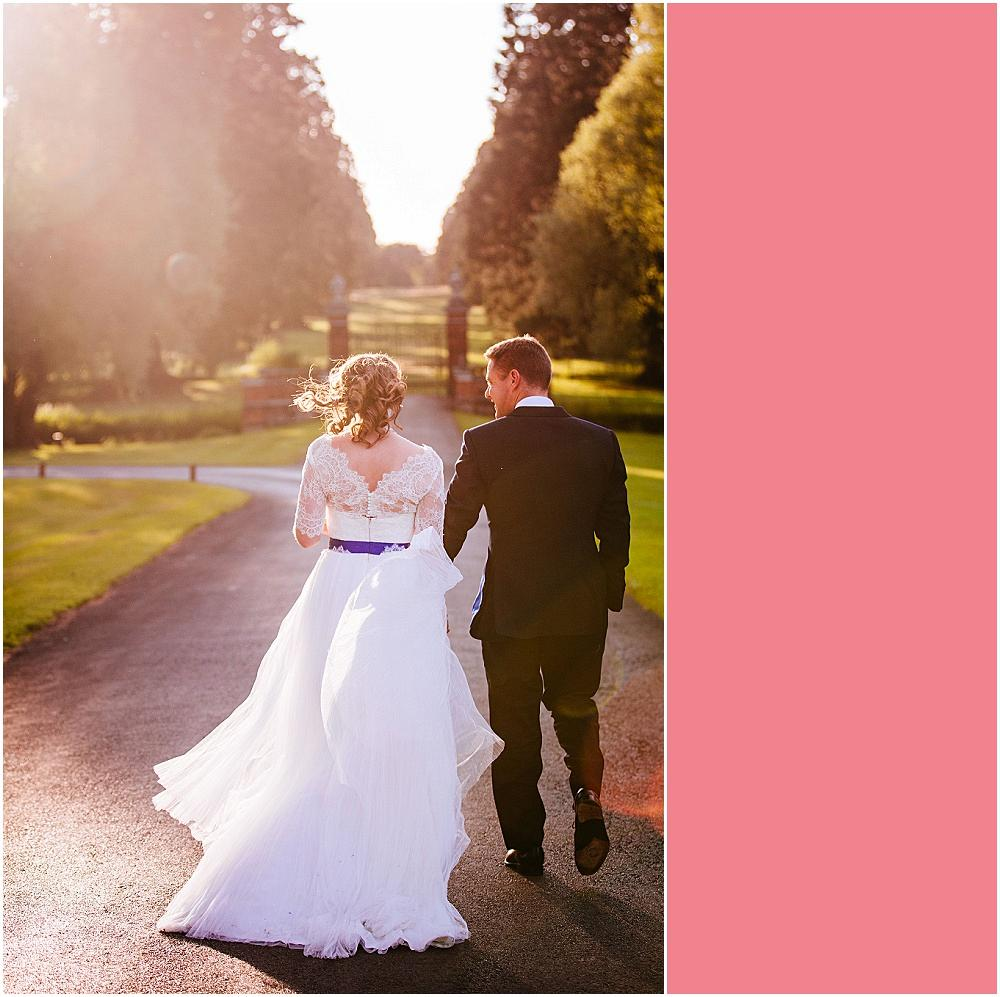 Wedding photography in the golden hour