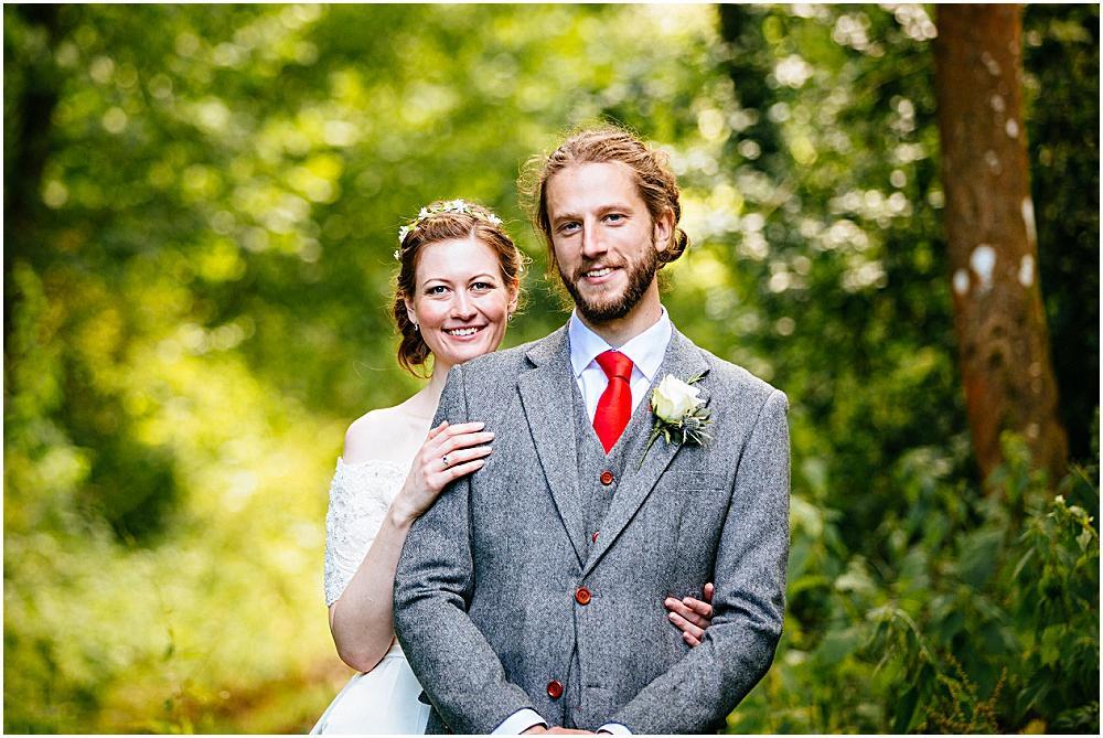 Good looking bride and groom