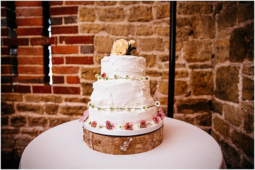 Wedding cake made by bridesmaid