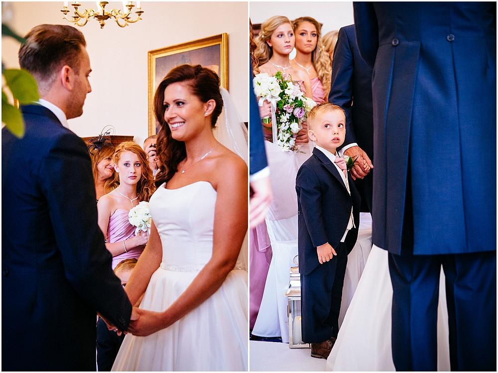 Brides children watching wedding ceremony
