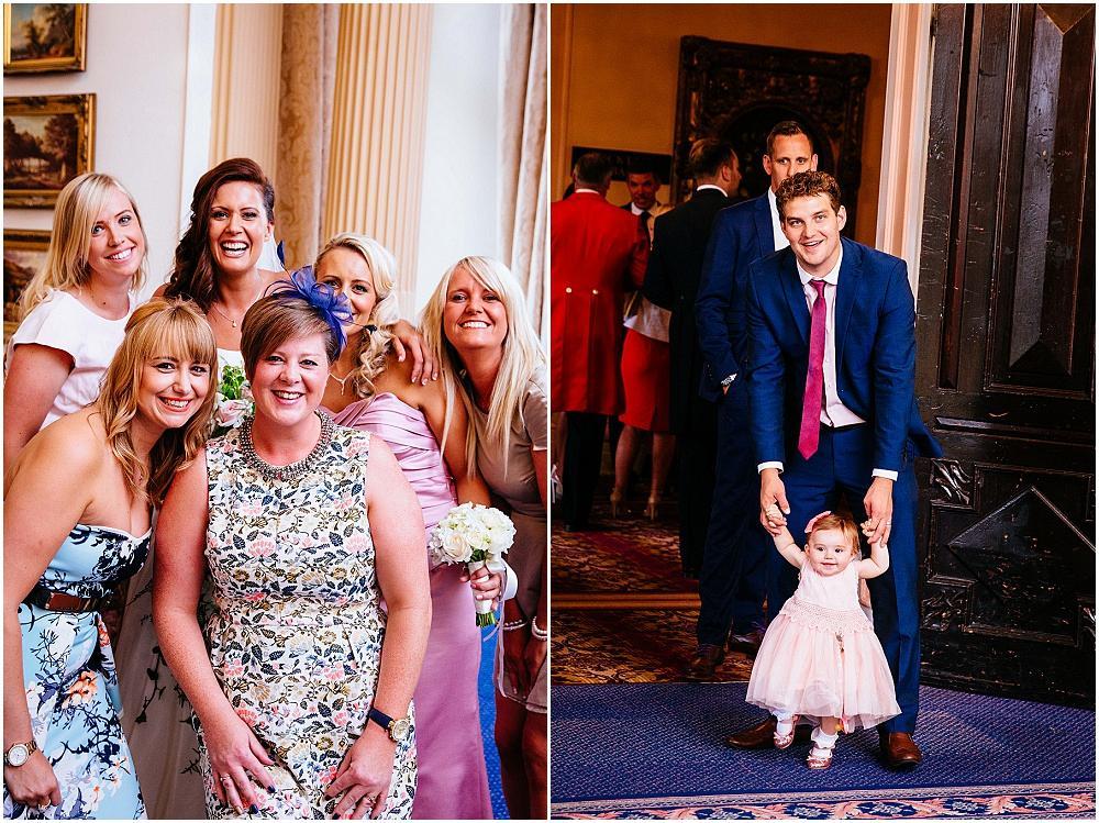 Happy people at Essex wedding