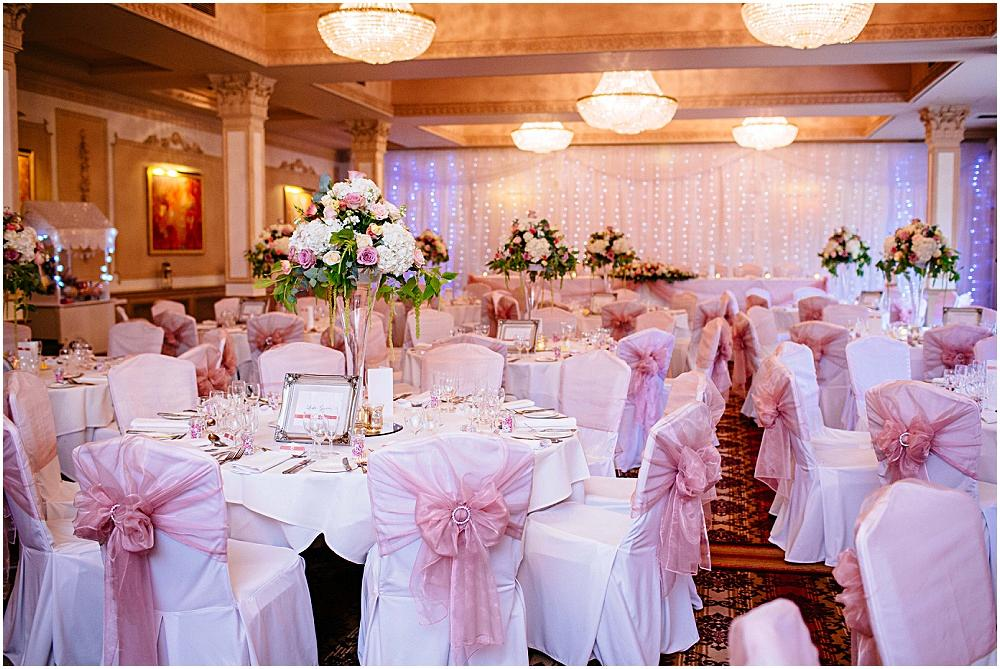 Down Hall hotel wedding breakfast chair covers