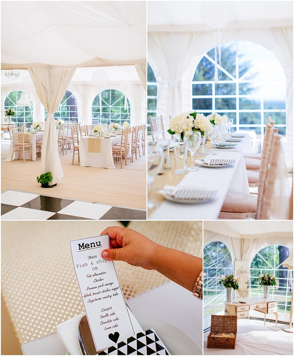 Marquee wedding details