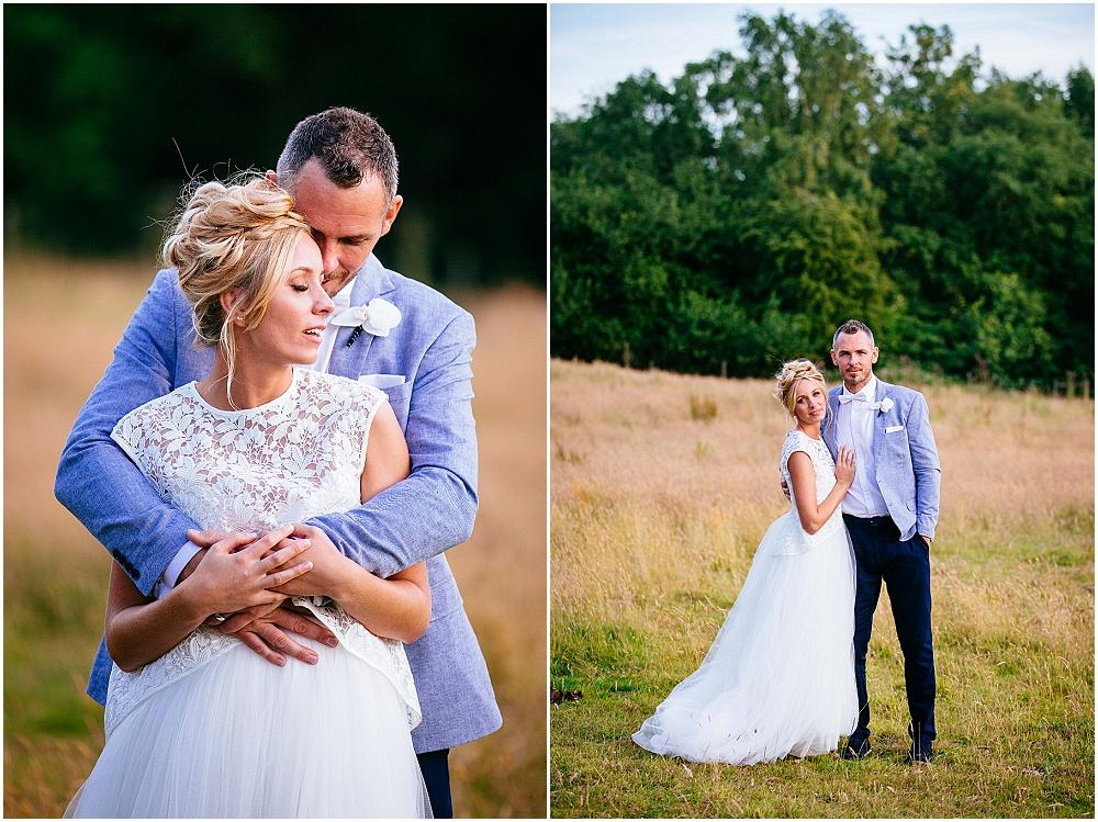 Couple portraits at Surrey wedding