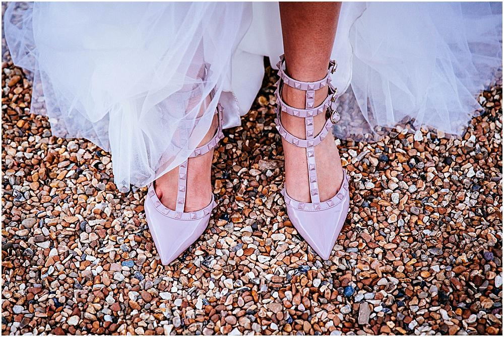 Brides stylish wedding shoes