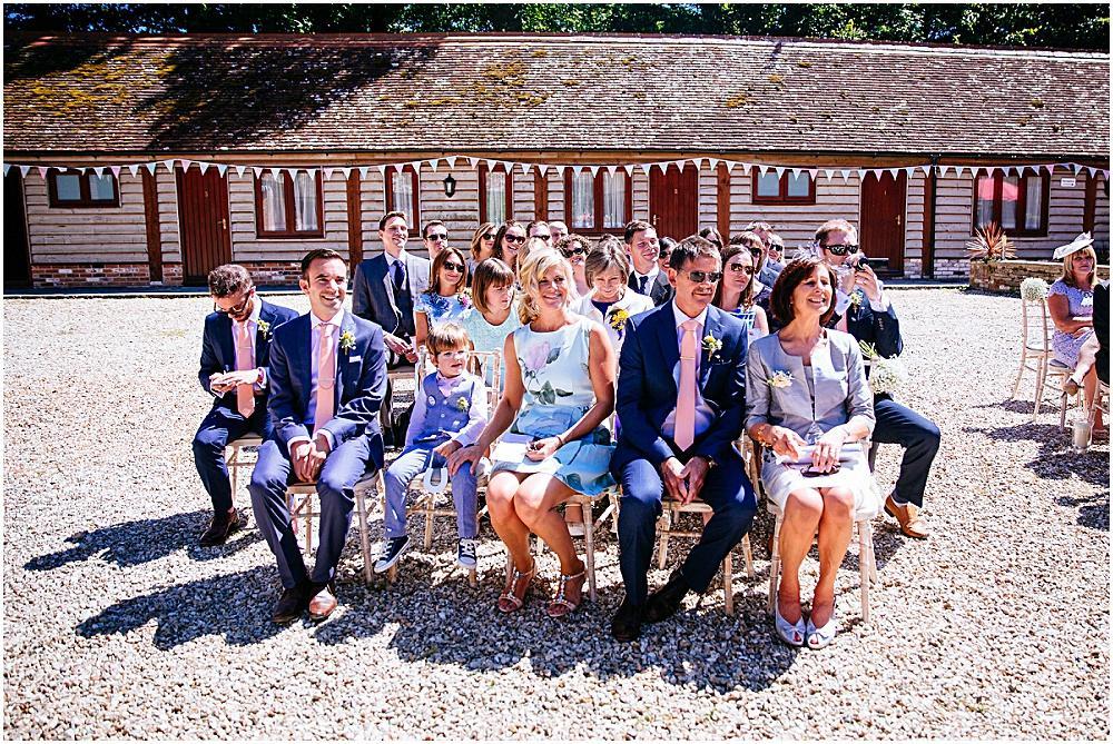 Happy wedding families