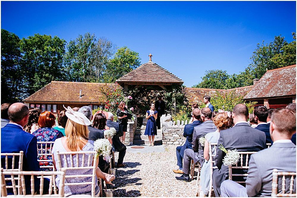 Wedding reading outside