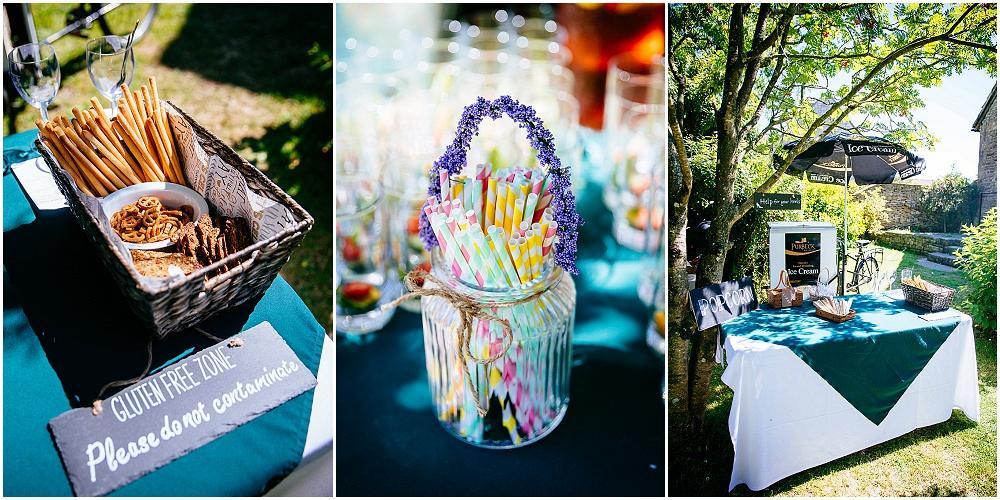 Pretty wedding straws