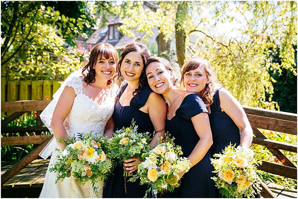 Bride and pretty bridesmaids
