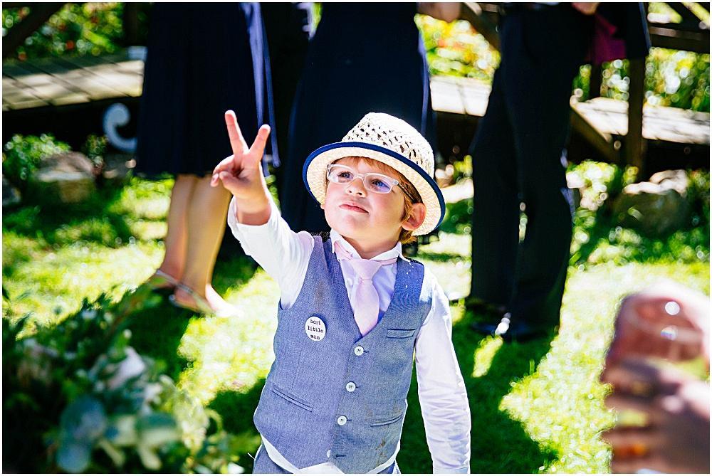 Cool kid at wedding