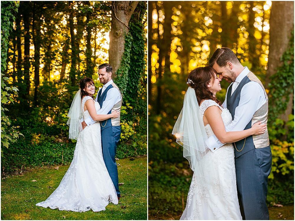 Bokeh and sunset wedding photographs