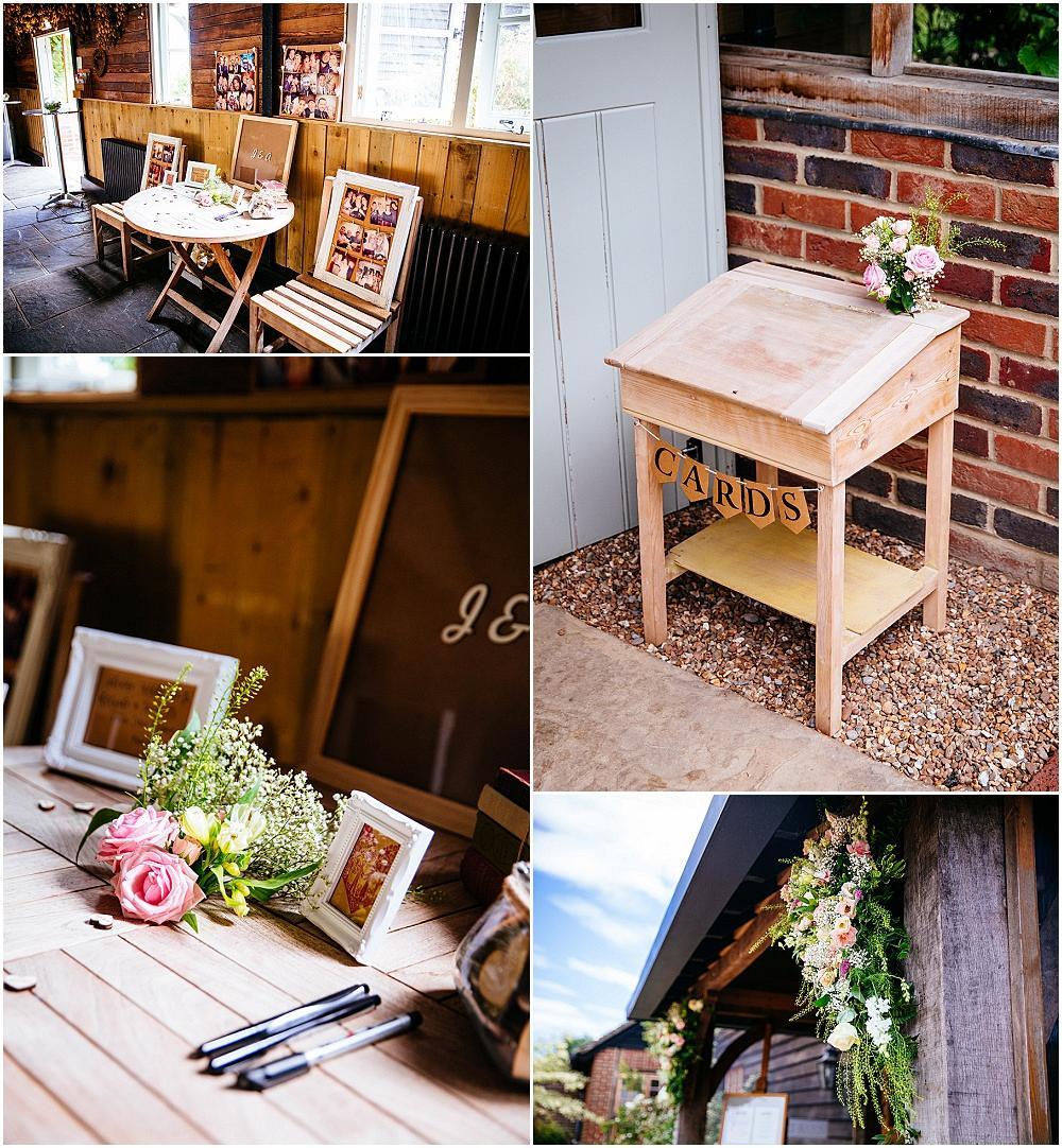 School desk wedding detail