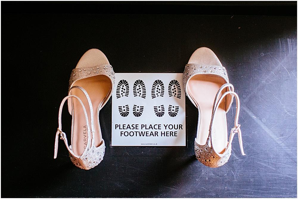 Place your footwear here