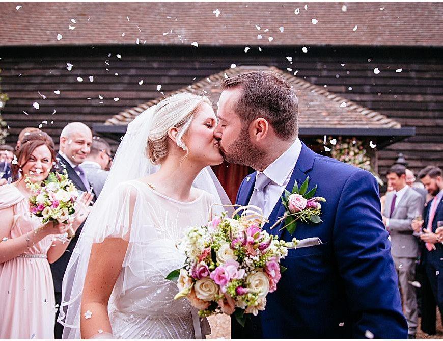 Surrey Wedding Photography – Amy & James' Gate Street Barn wedding