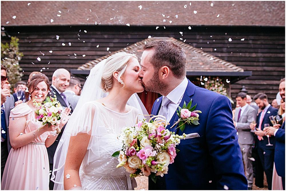 Surrey Wedding Photography – Amy & James' Gate Street Barn wedding