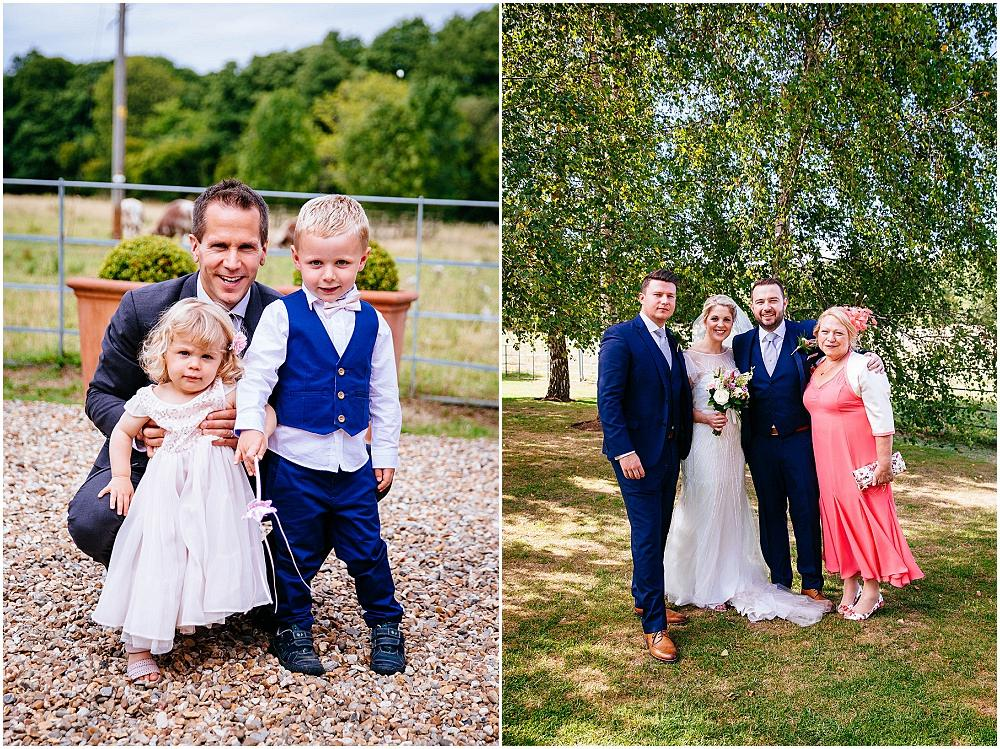 Relaxed formal wedding photographs