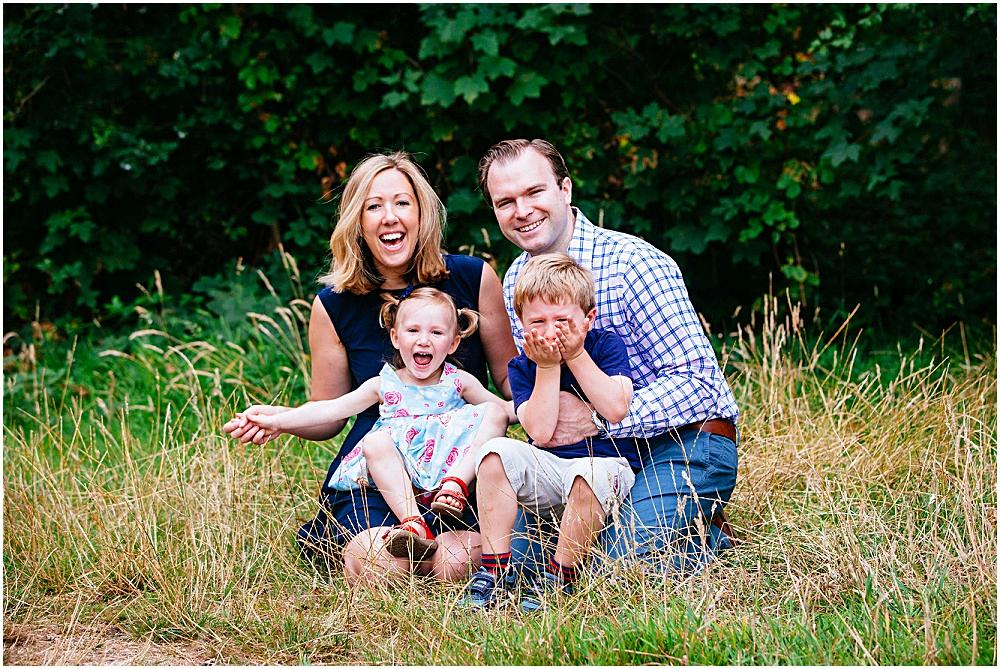 Laughing family during wandsworth family photoshoot
