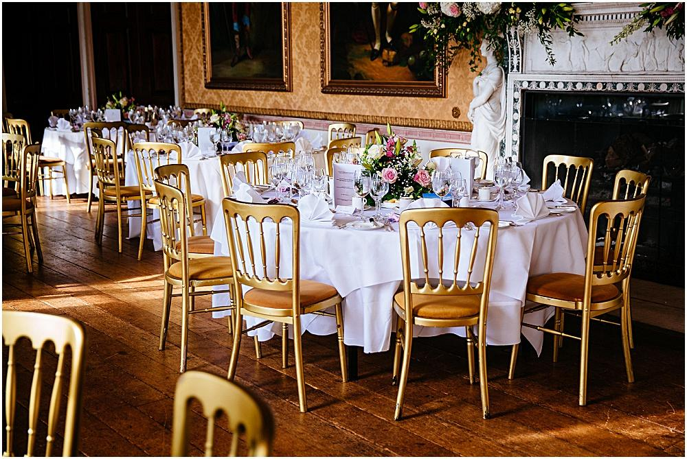 Country House wedding venue tables