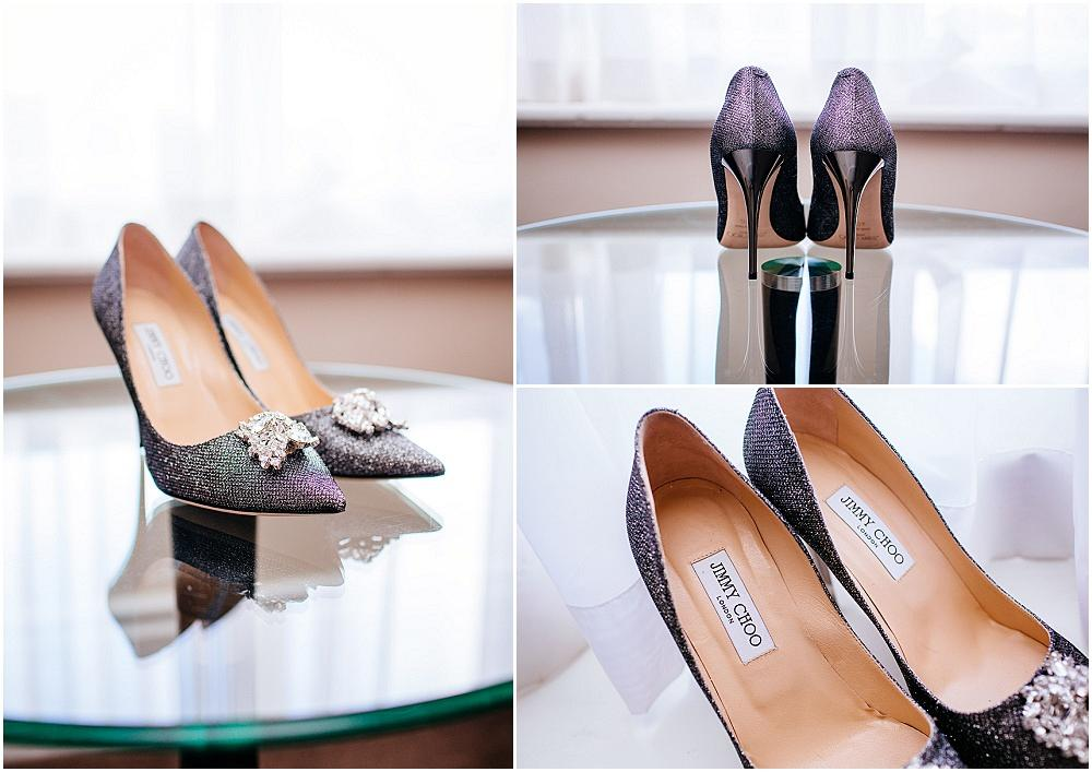 Jimmy Choo pewter wedding shoes
