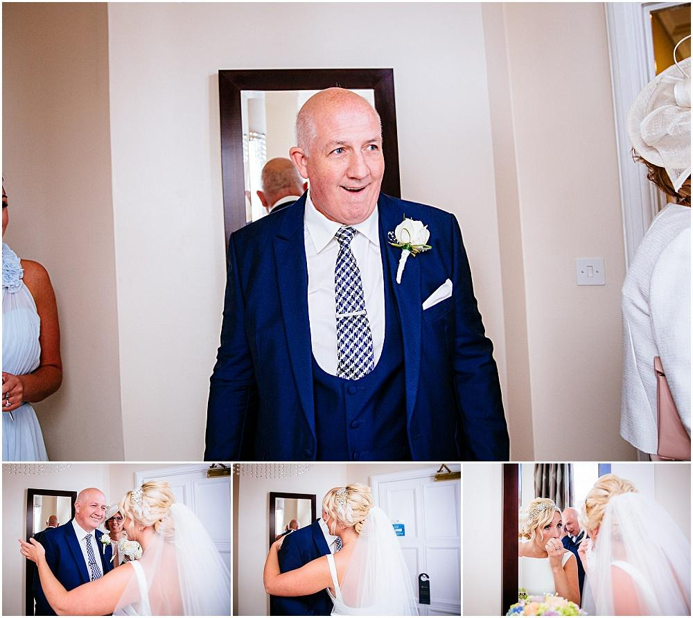Amazing reaction from dad first look bride