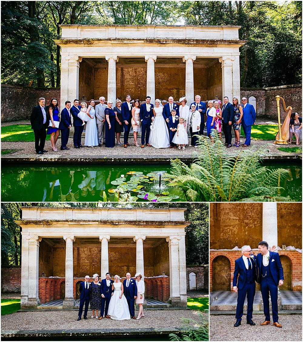 Stunning relaxed wedding group shots