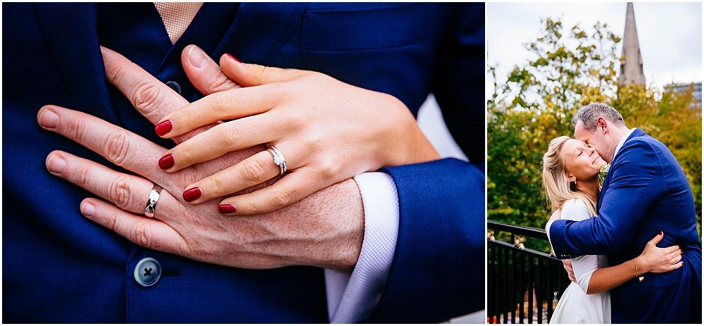 Very smooth hands and wedding rings